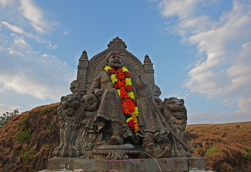 Statue of Shivaji Maharaj at Raigad fort