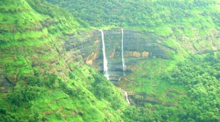 Waterfall at Rajmachi Fort Maharashtra