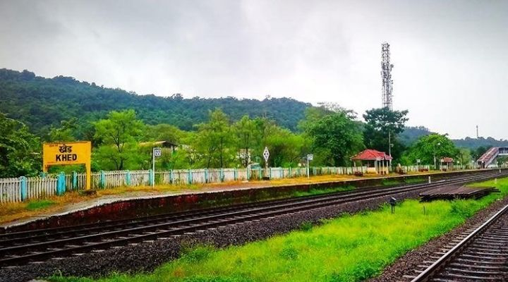 Khed Railway Station in Konkan